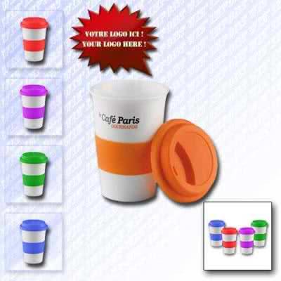Mug 350 ml isotherme en plastique design gobelet